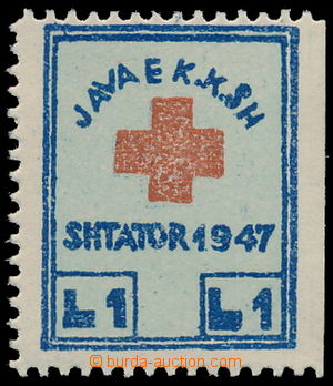156979 - 1947 Mi.1, Příplatková známka pro Červený kříž, 1L modrá/ če