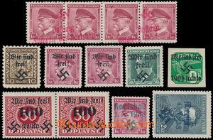157074 - 1938 KARLSBAD/ RUMBURG/ REICHENBERG  sestava 9ks s přetisky