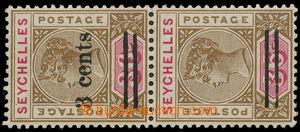 157402 - 1901 SG.39, 39b, Královna Viktorie 36C s přetiskem 3C,  2-pá
