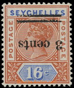 157403 - 1901 SG.38a, Královna Viktorie 16c s přetiskem 3c, přetisk P