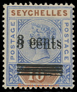 157404 - 1901 SG.37a, Královna Viktorie 10c s přetiskem 3c, přetisk D