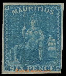 157412 - 1859-61 SG.32, Sedící Britannia 6P modrá, velmi pěkný kus; č