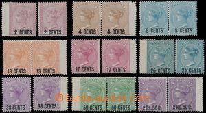 157488 - 1878 SG.83-91, Královna Viktorie, kompletní série přetiskové