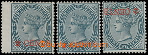 157490 - 1887 SG.117 (2), 117a, Královna Viktorie 2c/13c břidlicová,