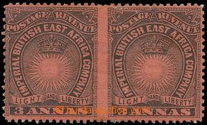 157528 - 1890-1895 SG.8ac, Slunce a Koruna 3 Anna černá/červená, 2-pá