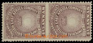 157529 - 1890-1895 SG.11ad, Slunce a Koruna 4½ Anna hnědopurpuro