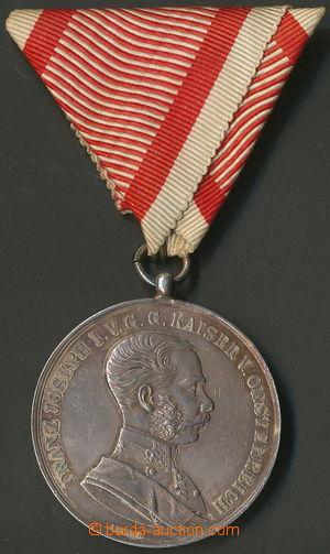 157812 - 1848-1916 FJ I., Velká stříbrná medaile za statečnost, I. tř
