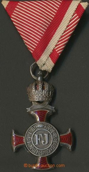 157828 - 1849 Stříbrný záslužný kříž s korunou na vojenské stuze, pun