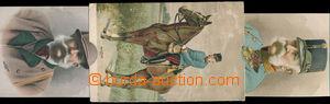 158153 - 1908 FRANZ JOSEF I., vysouvací pohlednice, 3ks, FJ v uniform