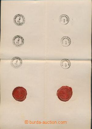158154 - 1883 sestava 6ks otisků raz. poštovního úřadu Kardašova Řeči