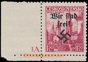 158261 - 1938 RUMBURG Mi.11, Výplatní Bánská Bystrica 1,50Kč, levý do