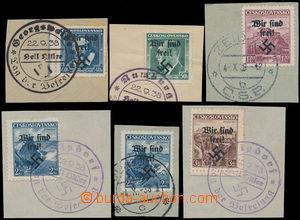 158262 - 1938 RUMBURG  Mi.6, 7, 10, 14 2x, 15, sestava 6ks výstřižků,
