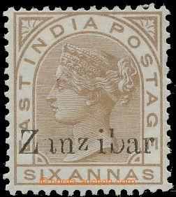 158530 - 1895-1896 SG.13, Královna Viktorie 6A s přetiskem Zanzibar,