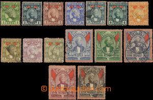 158532 - 1896 SG.156-174, Sultan Seyyid, nominálně kompletní série &#