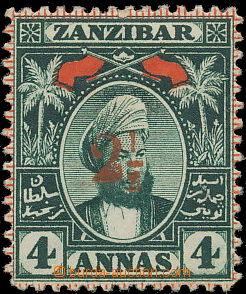 158533 - 1897 SG.176, Sultan Seyyid 4A s červeným přetiskem 2½ (
