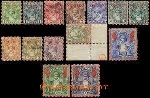 158534 - 1899 SG.188-202, Sultan Seyyid, nominálně kompletní řada &#1