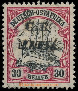 158584 - 1915 MAFIA ISLAND SG.M6A, britská okupace, černý přetisk G.R