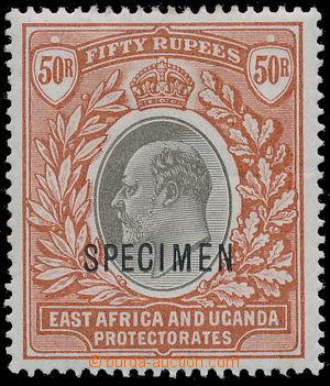 158610 - 1903 SG.16s, Edvard VII. 50Rs červenohnědá / šedá, průsvitka