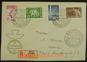 158874 - 1952 Reg letter in the place from opening Summer Olympic Gam