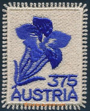 158875 - 2008 Mi.2773, Encián, vyšívaná známka (!), samolepka; zajíma