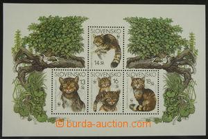 158879 - 2003 Zsf.A299-302, miniature sheet WWF Kočky, cat. 6€