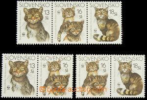 158880 - 2003 Zsf.299+302, 299+301+302 a 301+302, WWF Kočky, sestava