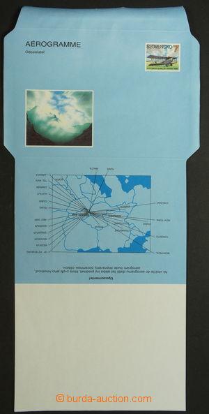 159046 - 1993 Zsf.CAE1, 1. náklad nepřeložený aerogram, kat. Zberatel