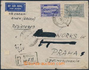 160149 - 1935 R+Let-dopis do ČSR vyfr. zn. Mi.251 (2x), 254, 261 (2x)