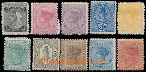 160366 - 1895 SG.236-239, 221-222, 242-245, Královna Viktorie ½P
