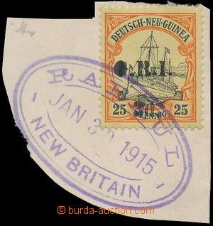 160803 - 1914 BRITSKÁ OKUPACE, SG.22 přetisk G.R.I./ 3d. na německé k
