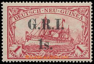 160811 - 1914 BRITSKÁ OKUPACE, SG.12, přetisk G.R.I. 1s. na německé k