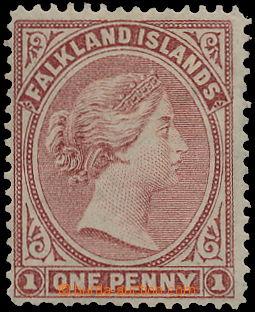 160818 - 1878 SG.1, Královna Viktorie 1P hnědočervená, bez průsvitky;