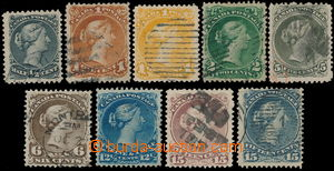 161002 - 1868 Sc.21-30, Královna Viktorie, sestava 9ks, mimo Sc.25 a