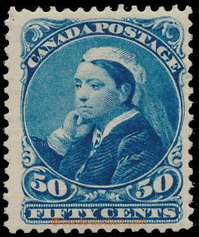 161008 - 1888 Sc.47, Královna Viktorie 50c modrá, pěkný kus, kat. $42