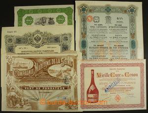161609 - 1890-1960 AKCIE/ SVĚT  sestava 11ks různých akcií a obligací