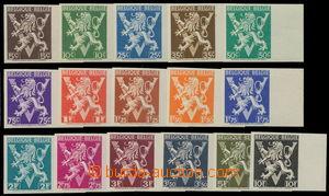 161613 - 1944 Mi.692-707, Znak 5c-10F, kompletní série, nezoubkovaná!
