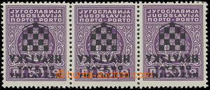 161661 - 1941 Mi.1, Doplatní 50P purpurová, vodorovná 3-páska s převr