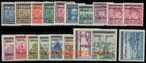 161690 - 1939 Pof.1-19, kompletní série; svěží, kat. 1.000Kč