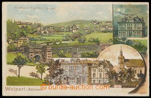161695 - 1900 VEJPRTY (Weipert) - 3-okénková, litografie, poštovní úř