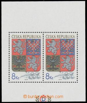 161697 - 1993 Pof.A10VV, aršík Velký státní znak, odlišný ořez; kat.