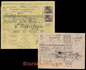 161881 - 1918-19 MUNKÁCS, sestava 2ks větších dílů uherských peněžníc