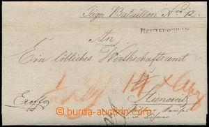 161900 - 1828 ČESKÉ ZEMĚ / dopis z Nového Jičína, raz. NEUTITSCHEIN,
