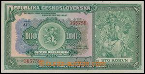 161967 - 1920 Ba.16b, 100Kč, série Af
