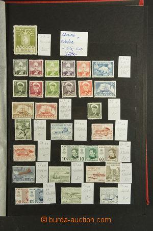 161968 - 1915-90 [SBÍRKY]  GRÓNSKO, FAERSKÉ OSTROVY  nekompletní sbír