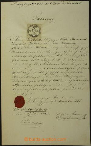 162087 - 1858 RAKOUSKO-UHERSKO  velmi pěkná kvitance s velmi vzácným
