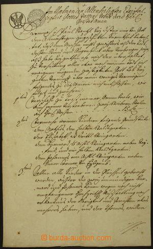 162090 - 1762 MARIE TEREZIE  listina se vzácnou smíšenou frankaturou