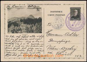 162168 - 1938 MUKAČEVO  čs. souběžná obrazová dopisnice pro cizinu CD