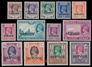 162454 - 1946 SG.O28-O40, Jiří VI. s přetiskem SERVICE; kompletní sér