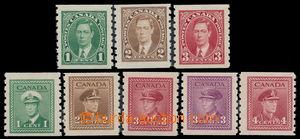162475 - 1937-43 SG.368-370, 389-393, Jiří VI.; 2 kompletní série coi