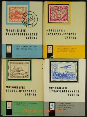 162532 - 1968-86 MONOGRAFIE ČS. ZNÁMEK 1. - 4. díl, bez příloh, vše v